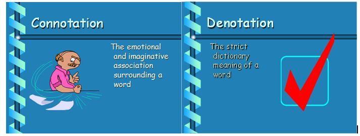 Connotation and denotation worksheets high school