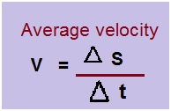 what is the formula for velocity